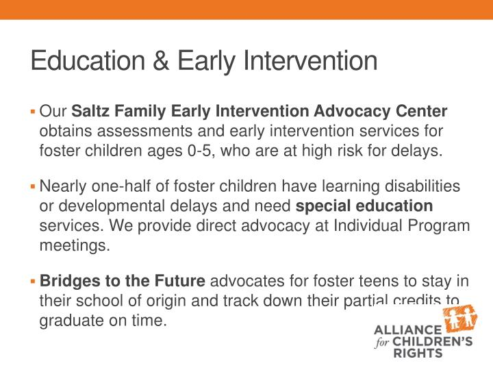 improving early intervention the future of our The following are our recommendations for policymakers, practitioners, and researchers as they work to improve the outcomes for students with disabilities, based on the findings of this paper stay the course.