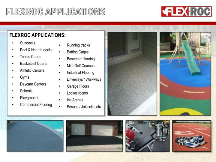 FLEXROC APPLICATIONS