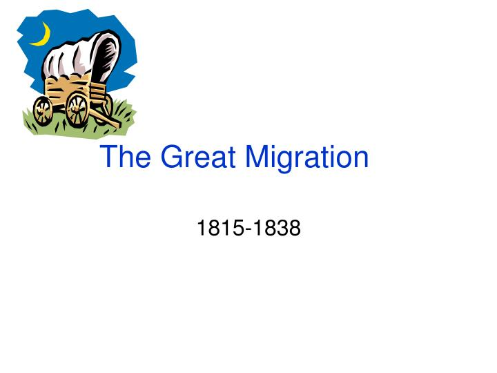 the great migration n.