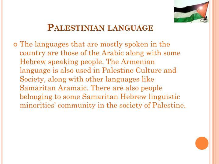 Palestinian language