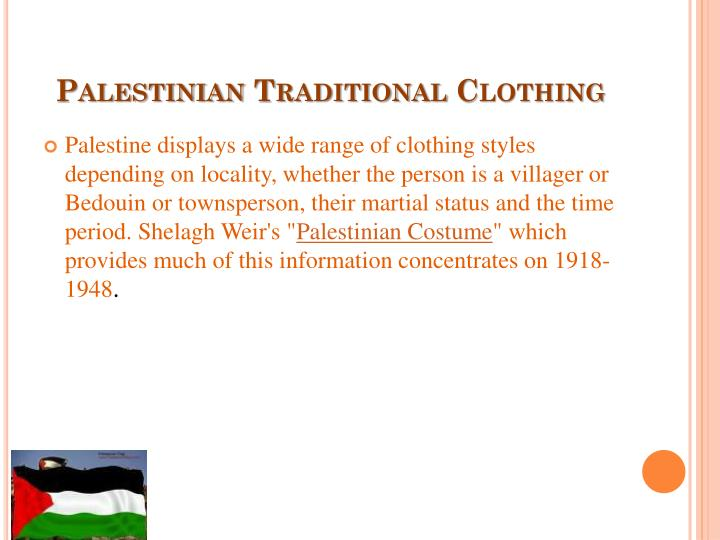 Palestinian Traditional Clothing
