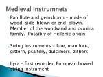 medieval instrumnets