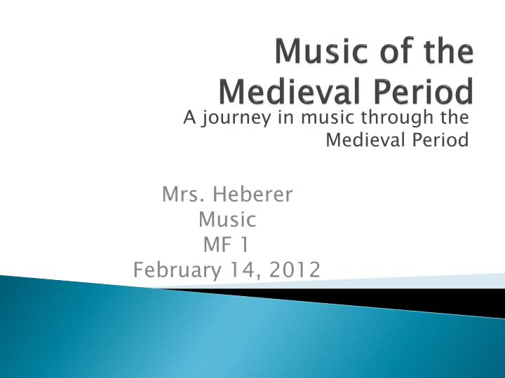 music of the medieval period n.
