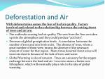 deforestation and air