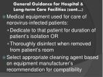 general guidance for hospital long term care facilities cont3