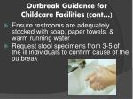 outbreak guidance for childcare facilities cont