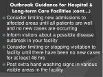 outbreak guidance for hospital long term care facilities cont