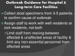 outbreak guidance for hospital long term care facilities