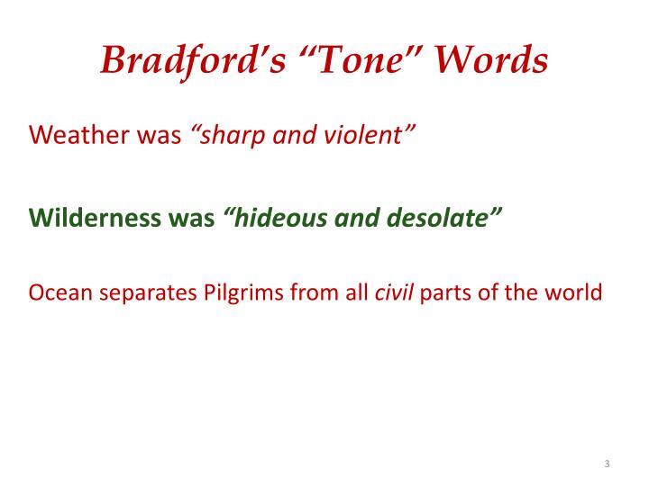 Bradford s tone words