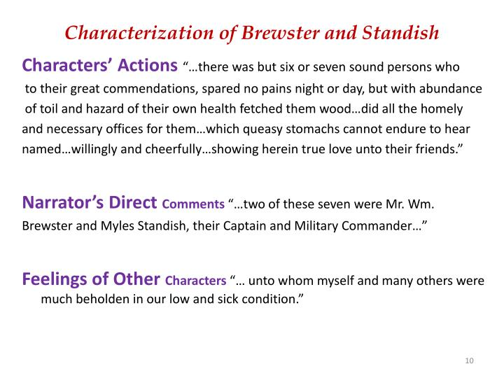 Characterization of Brewster and Standish
