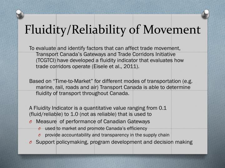 Fluidity/Reliability of Movement