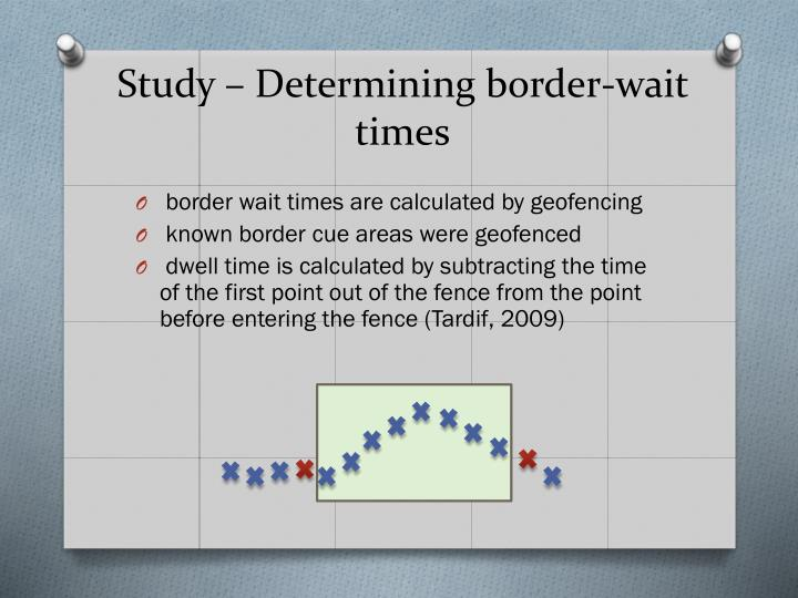 Study – Determining border-wait times