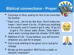biblical connections prayer