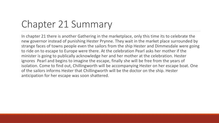 PPT   The Scarlet Letter Chapters 21 & 22 PowerPoint Presentation