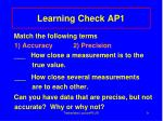 learning check ap1
