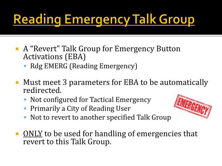 Reading Emergency Talk Group