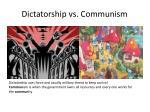 dictatorship vs communism