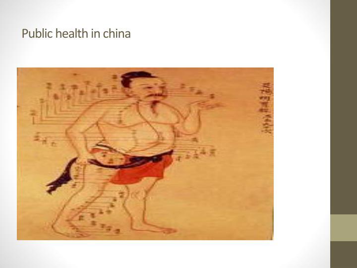 Public health in china
