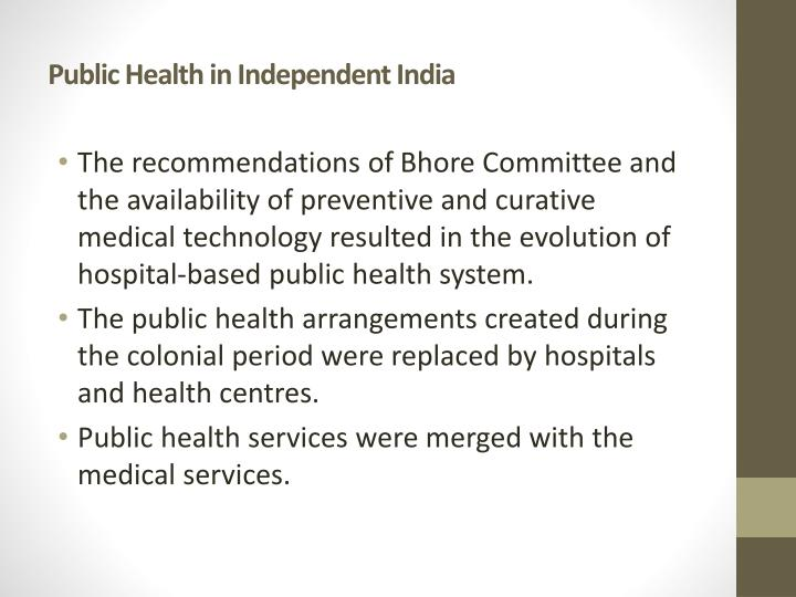 Public Health in Independent India