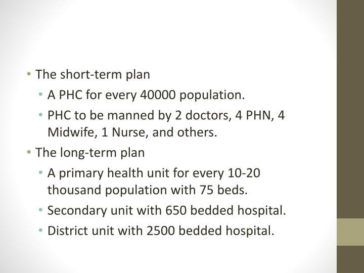 The short-term plan