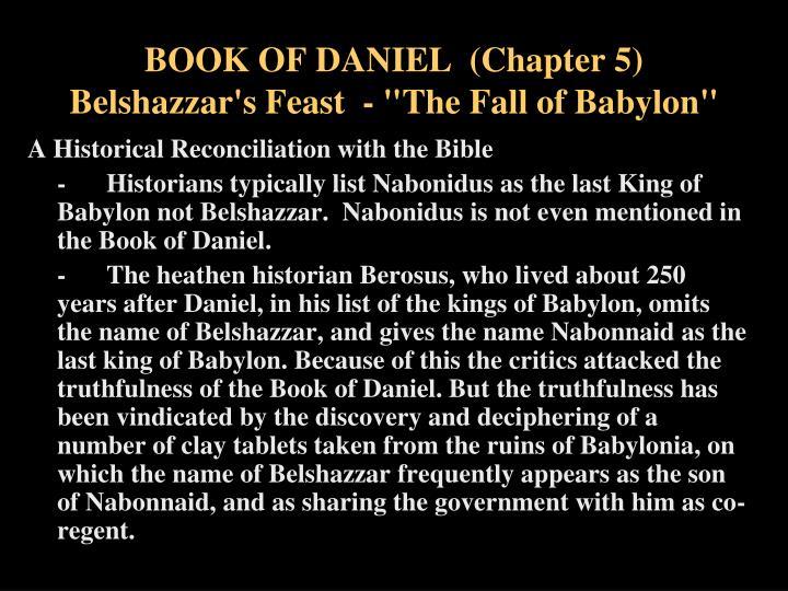 Book of daniel chapter 5 belshazzar s feast the fall of babylon1