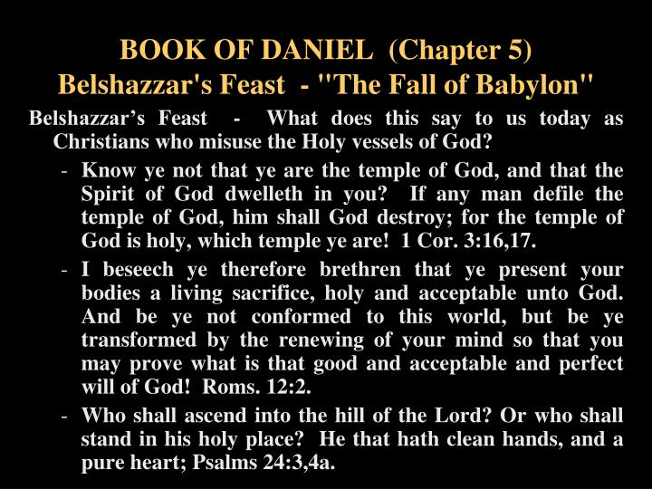 BOOK OF DANIEL  (Chapter 5)