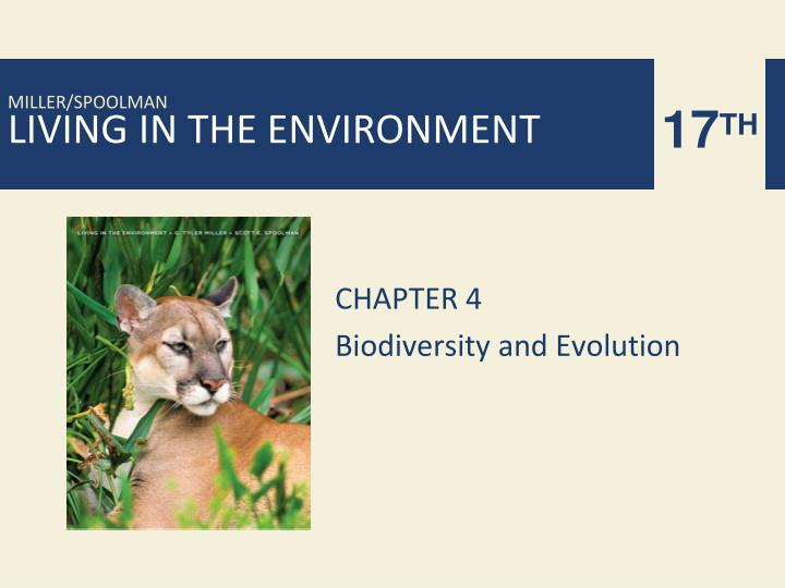 chapter 4 biodiversity and evolution n.