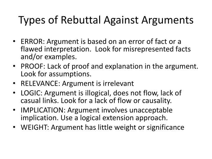 rebuttal argument