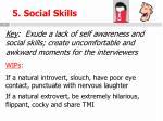 5 social skills