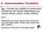 6 communication translation