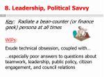 8 leadership political savvy