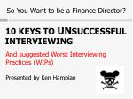 so you want to be a finance director