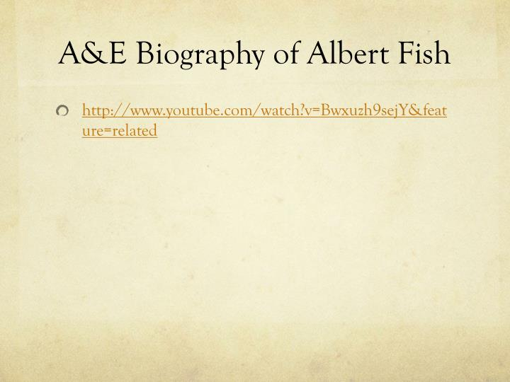 A&E Biography of Albert Fish
