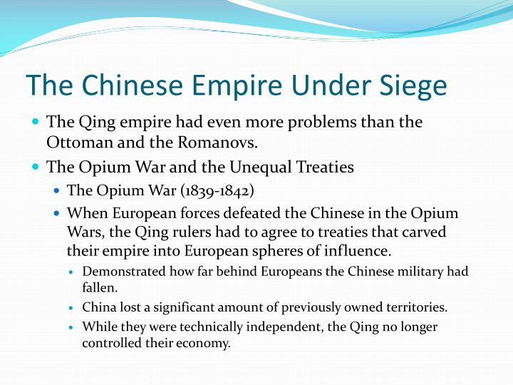 The Chinese Empire Under Siege