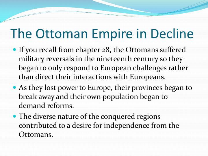 The ottoman empire in decline