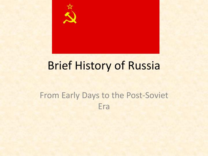 brief history of russia n.