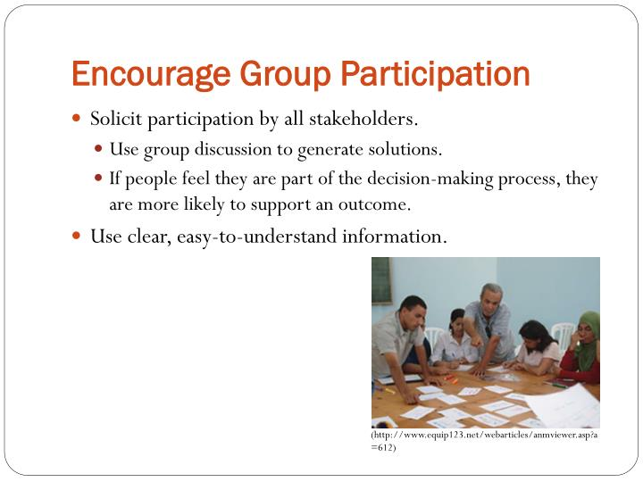 Encourage Group Participation