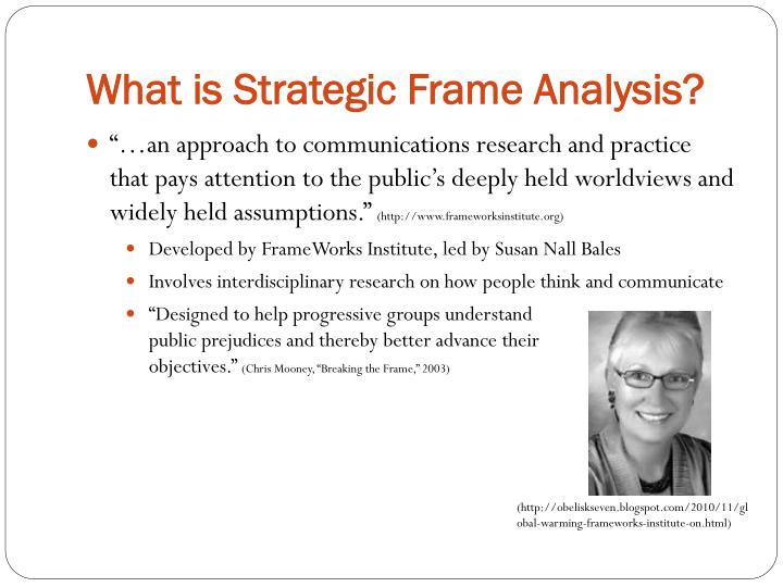 What is strategic frame analysis