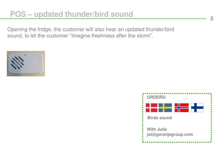 POS – updated thunder/bird sound