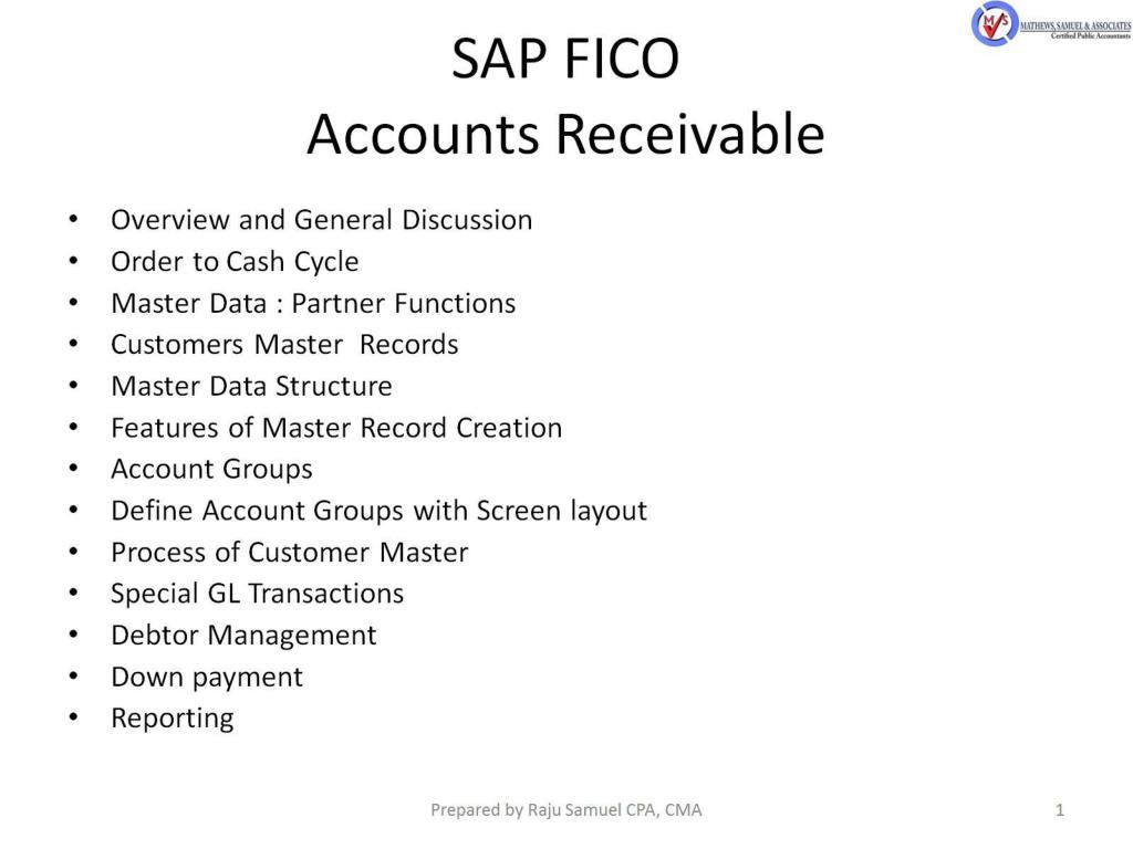 ppt sap fico accounts receivable powerpoint presentation id 2176139