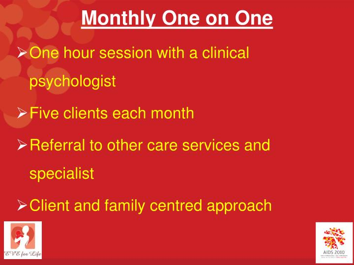 Monthly One on One