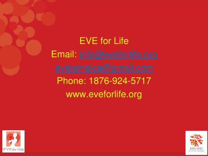 EVE for Life