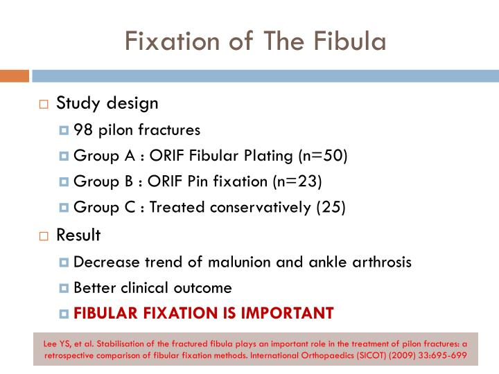 Fixation of The Fibula
