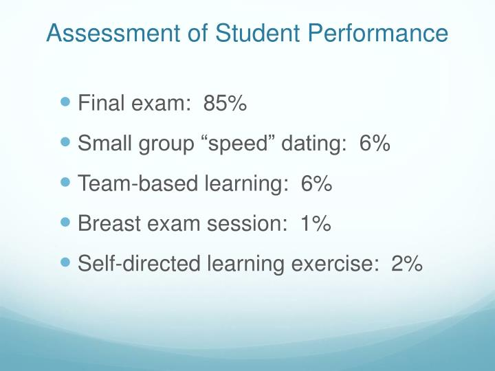 Assessment of Student Performance
