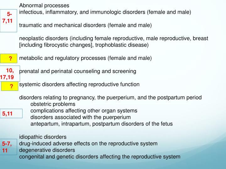 Abnormal processes