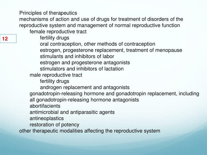 Principles of therapeutics