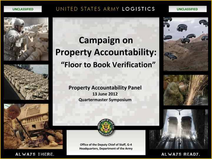 Ppt campaign on property accountability floor to book campaign on property accountability floor to book verification n toneelgroepblik Choice Image