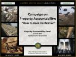 campaign on property accountability floor to book verification