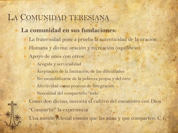 La Comunidad teresiana