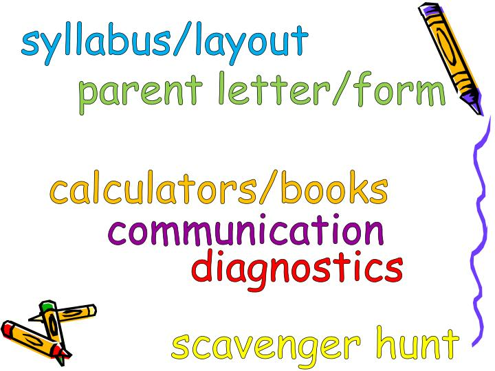 syllabus/layout